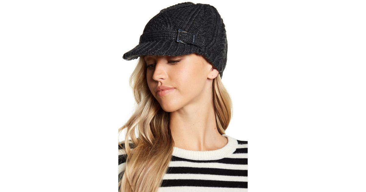 Lyst - MICHAEL Michael Kors Classic Cable Knit News Boy Hat f3bd60078c5