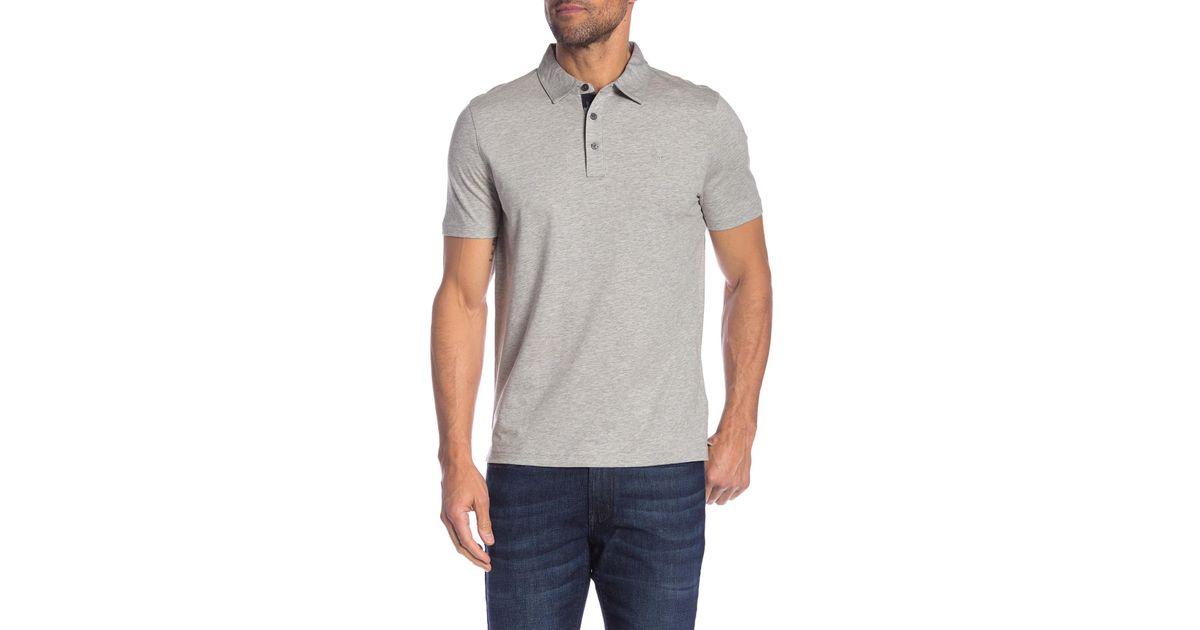 fd9dbdd9 Lyst - Michael Kors Camo Placket Polo Shirt in Gray for Men