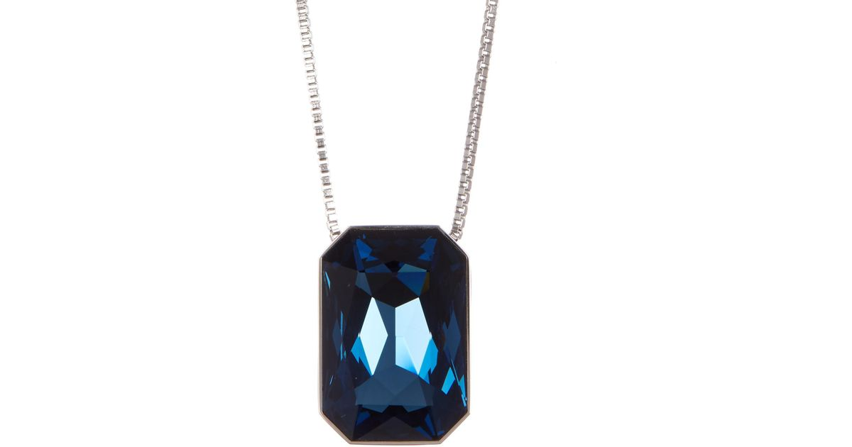 Lyst swarovski verso faceted crystal interchangeable pendant necklace aloadofball Choice Image