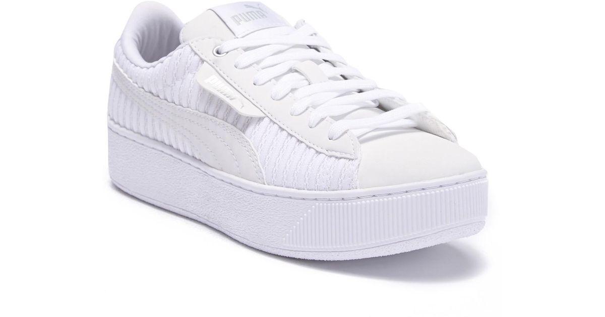 738f0e2d93a Lyst - PUMA Vikky Platform Ep Q2 Platform Sneaker in White