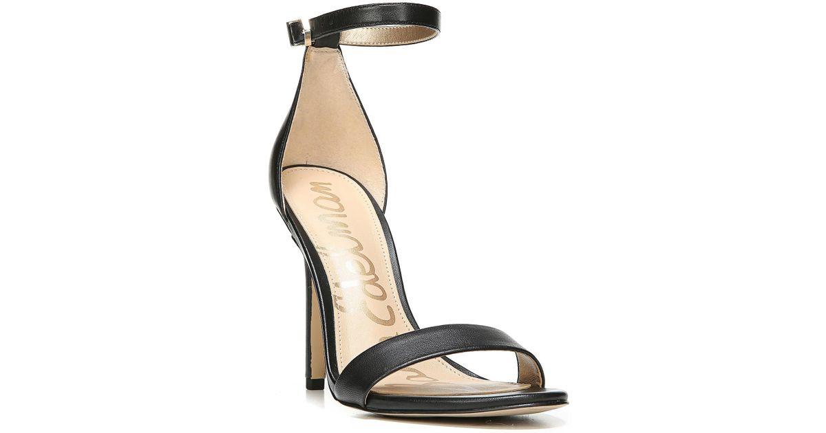 cb38065d79717 Sam Edelman - Black Amee Ankle Strap Heel Sandal - Lyst
