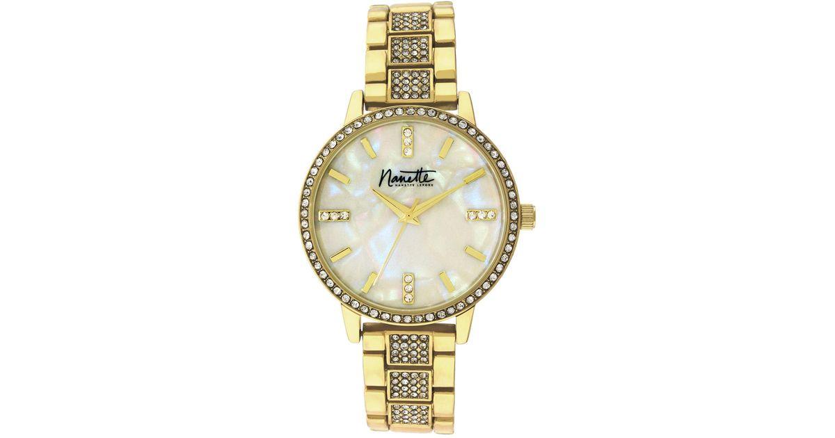 6e5509d009f1 Lyst - Nanette Nanette Lepore Women s Gold-tone Metal Watch