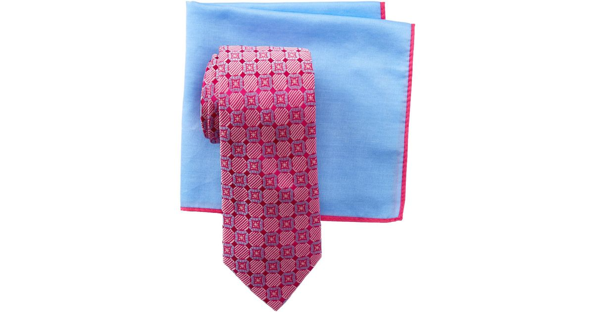d1ca0f145 Lyst - Ted Baker Layered Circles Silk Tie   Pocket Square Set in Pink for  Men