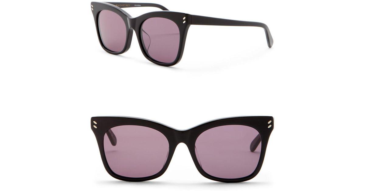 37a5b41cb2 Lyst - Stella Mccartney 53mm Squared Cat Eye Sunglasses in Black