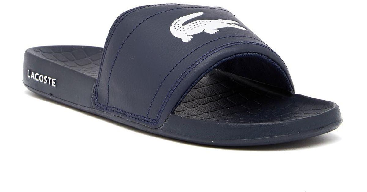 543968afde8325 Lacoste Fraisier 118 1 Us Slide Sandal in Blue for Men - Lyst
