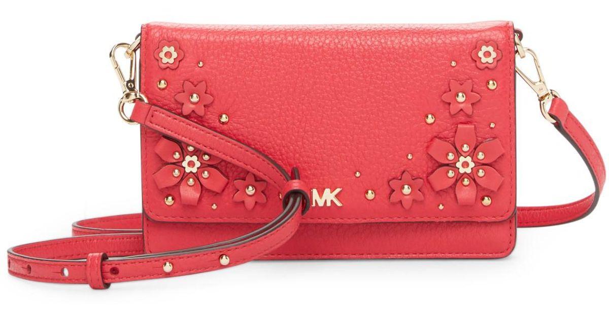 Lyst Michael Michael Kors Floral Embellished Leather