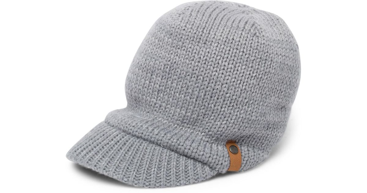 Lyst - adidas Lena Ii Brimmed Knitted Beanie in Gray 66ed3e77937