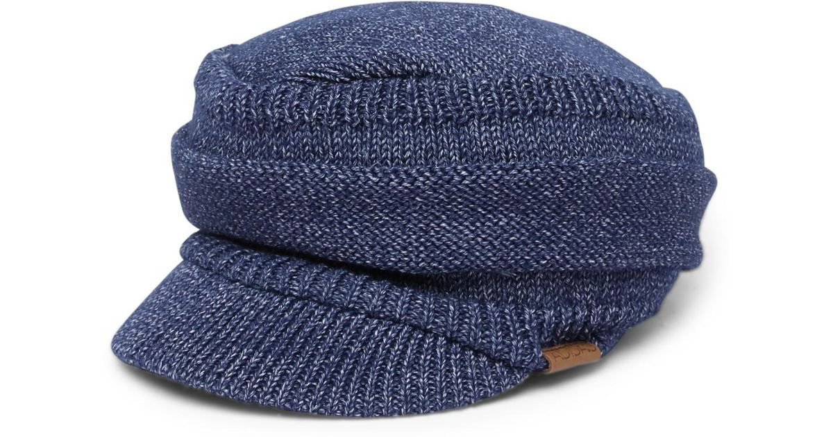 Lyst - adidas Quick Military Knitted Brimmed Beanie in Blue 8523e2e4309