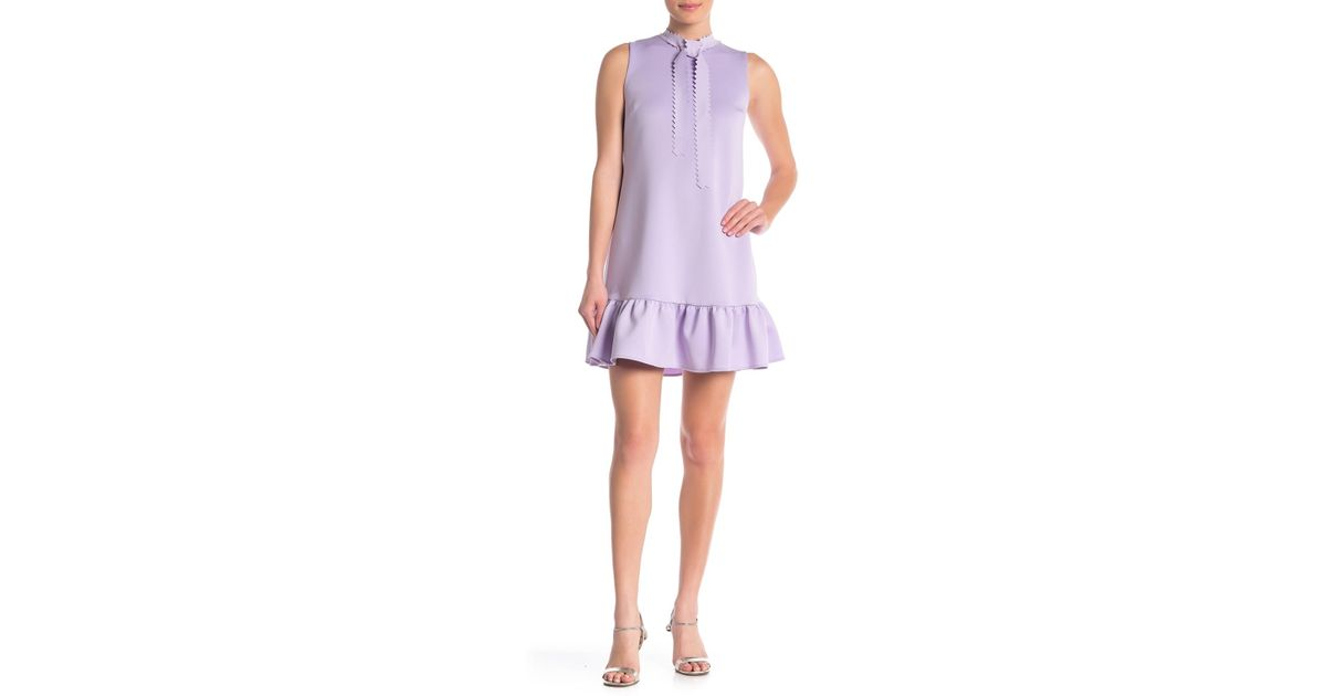 61cce6d7861 Betsey Johnson Laser-cut Techno Knit Shift Dress in Purple - Save 3% - Lyst