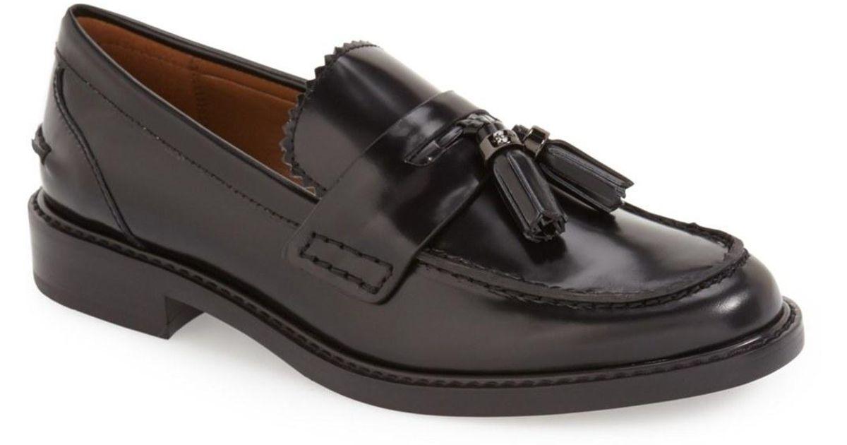 ba8da4c3970 Lyst - COACH  izabella  Tassel Loafer in Black