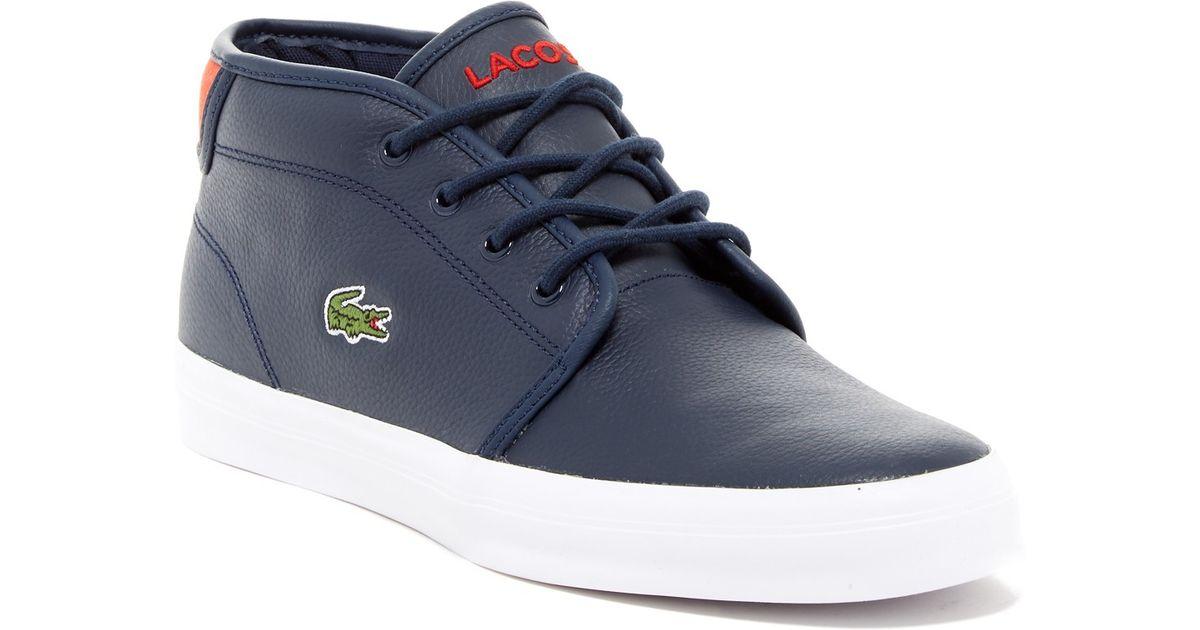 b8f53b3e2 Lyst - Lacoste Ampthill Chunky Mid Sneaker in Blue for Men