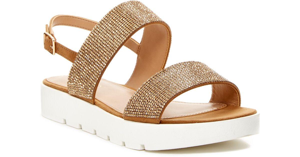 Lyst - ALDO Owenna Flat Sandal in Brown