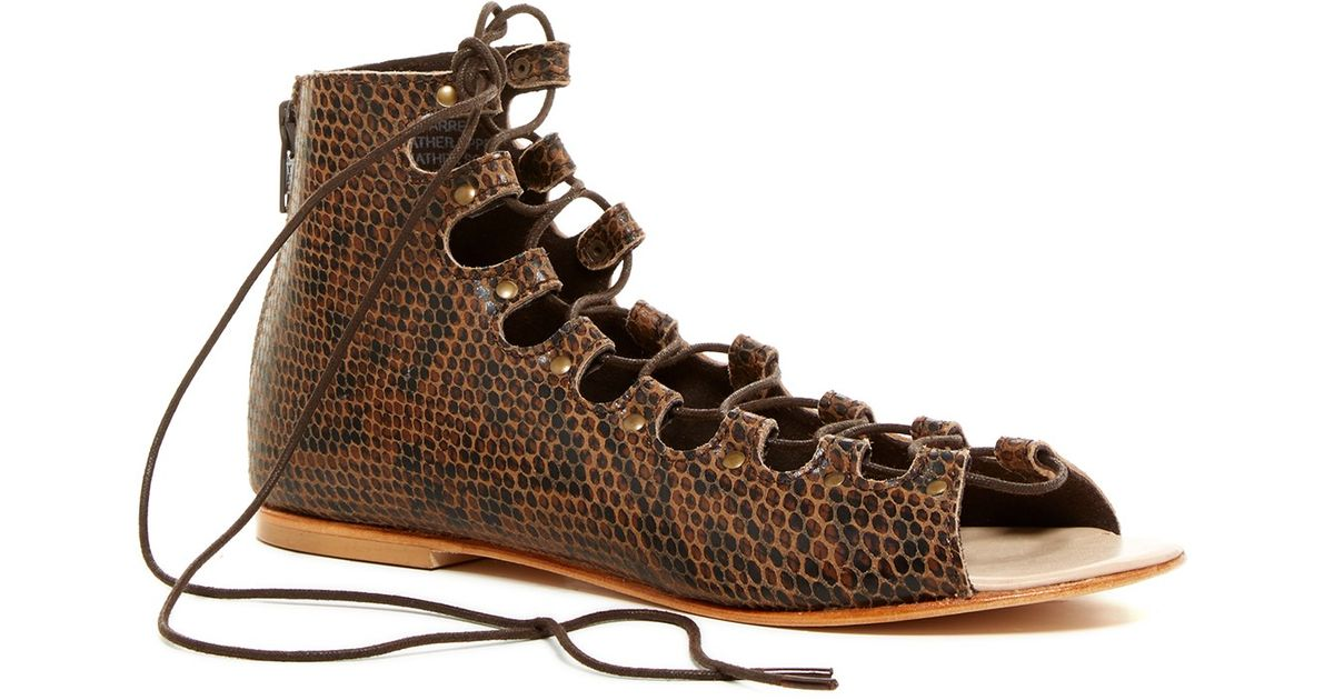 b3cdc22c3809d5 Lyst - Matisse Farrel Lace-up Sandal in Brown