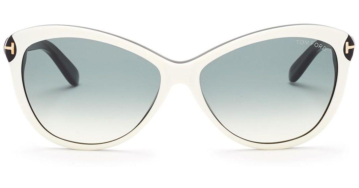 01f94d1a39ae Lyst - Tom Ford Women s Telma Cat Eye Sunglasses in Brown