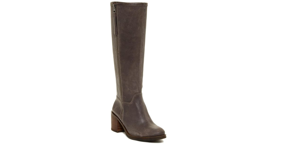 cc9d7c805af Lyst - Lucky Brand Resper Knee High Boot in Gray