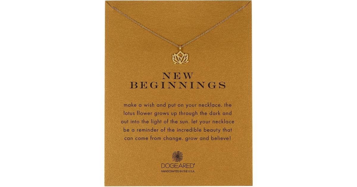 Lyst Dogeared 14k Gold Plated Sterling Silver New Beginnings Lotus