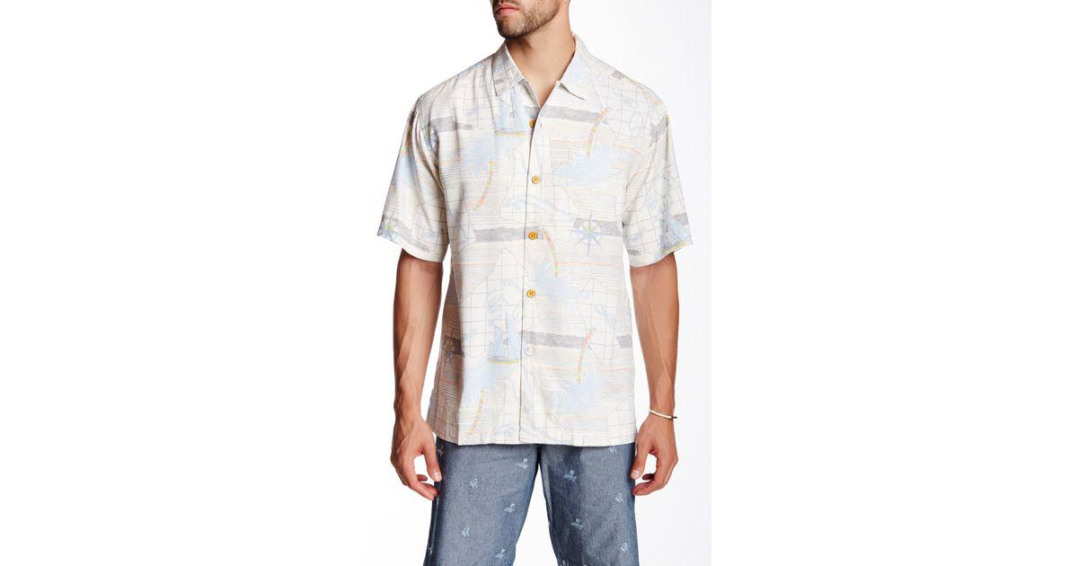 Tommy Bahama Vintage Voyage Original Fit Short Sleeve Silk