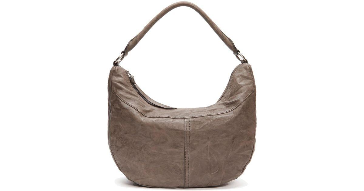 Lyst - Frye Veronica Leather Zip Hobo Bag in Gray 48a508e274da8