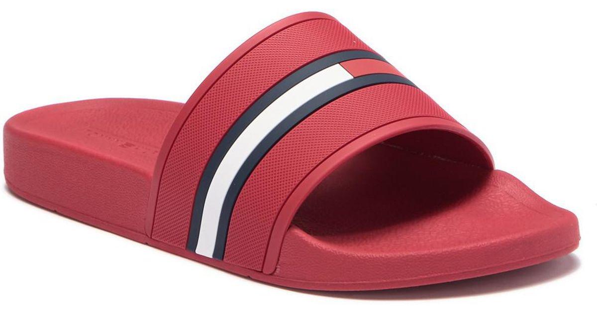 8264a8878 Lyst - Tommy Hilfiger Ennis Slide Sandal in Red for Men