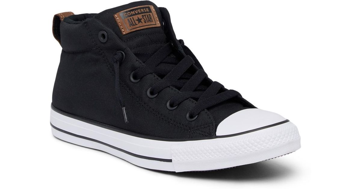 Lyst - Converse Chuck Taylor Street Mid Sneaker in Black for Men ab09eeb89057