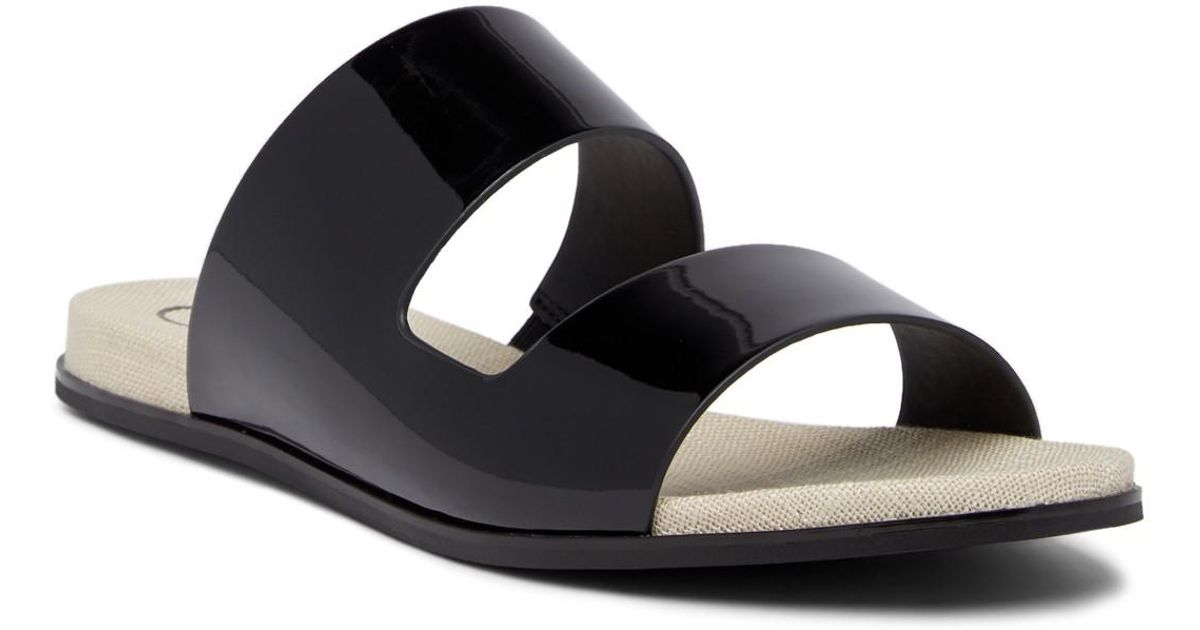 Calvin Klein Posey Patent Slide Sandal XJdLcoS