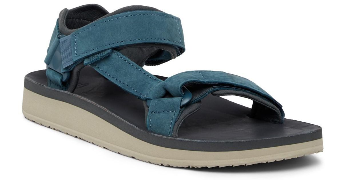 7bc66bdea867 Lyst - Teva Original Universal Premium Leather Sandal in Blue