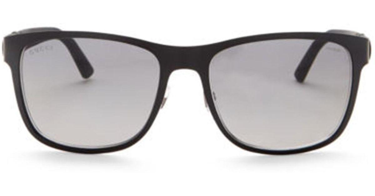 4ab0ee57c5 Lyst - Gucci Men s Square 56mm Metal Frame Sunglasses for Men