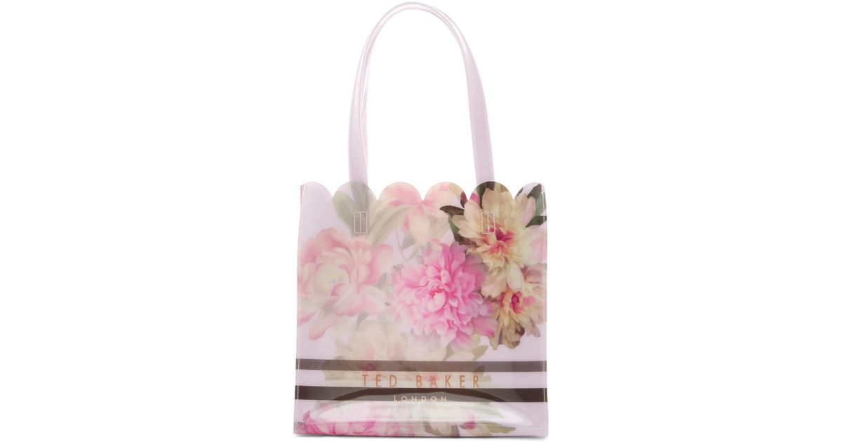 96a136b51 Lyst - Ted Baker Amalcon Painted Posie Small Icon Tote Bag in Pink