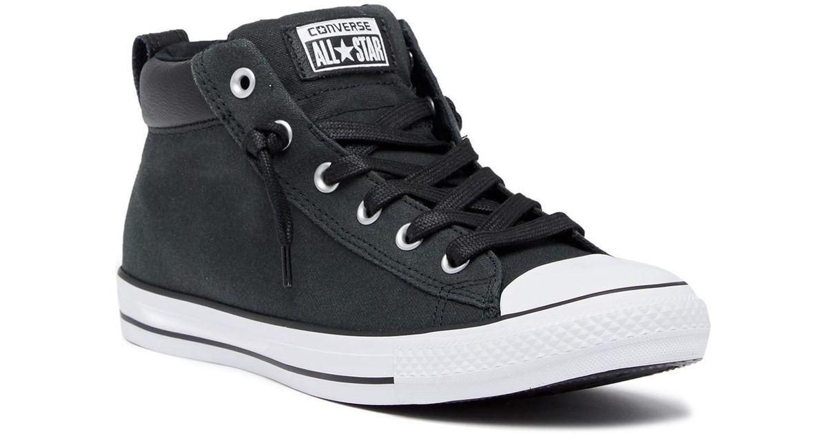8da76d093fe6 Lyst - Converse Chuck Taylor Street Mid Sneaker (unisex) in Black for Men
