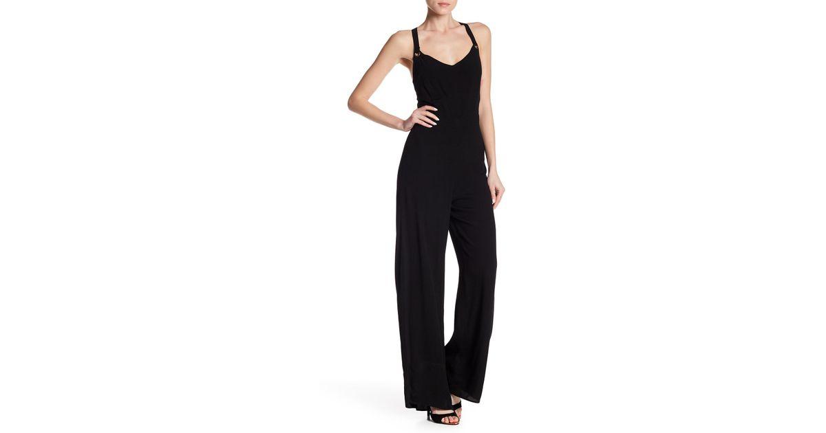 56cf549291ab Lyst - Dress Forum Cross Back Jumpsuit in Black