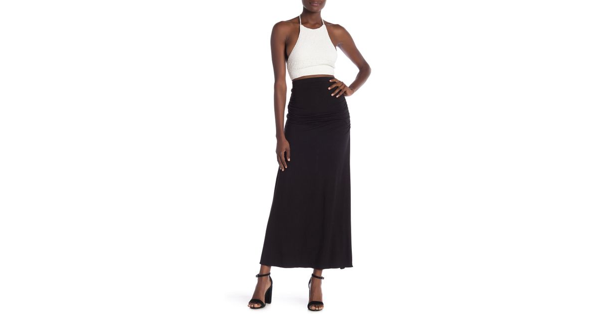 39b8e61a02 Lyst - Sky Naldo Maxi Skirt in Black