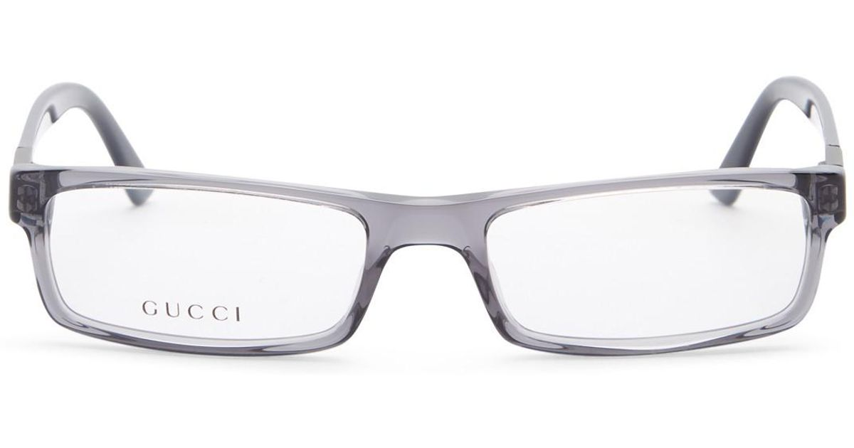 Lyst - Gucci Men\'s Rectangle Optical Frames in Blue