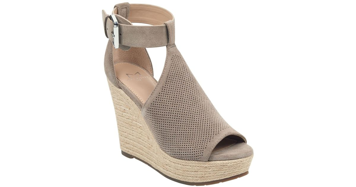 a3be457bc7a Lyst - Marc Fisher Allison Perforated Espadrille Platform Sandal