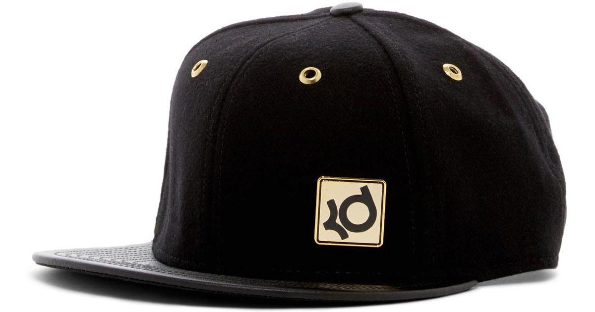 Lyst - Nike Kd Enamel True Strap Back Cap in Black for Men 76bcbc667e4
