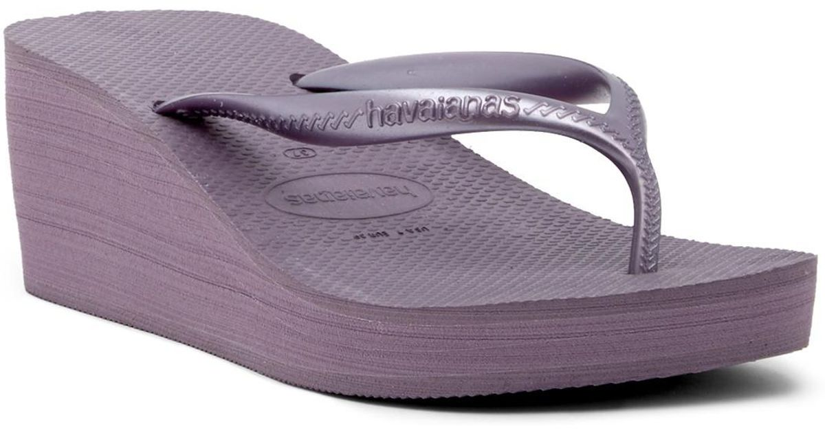 4dab0e59c97 Lyst - Havaianas High Fashion Platform Wedge Flip Flop Sandal (women) in  Purple