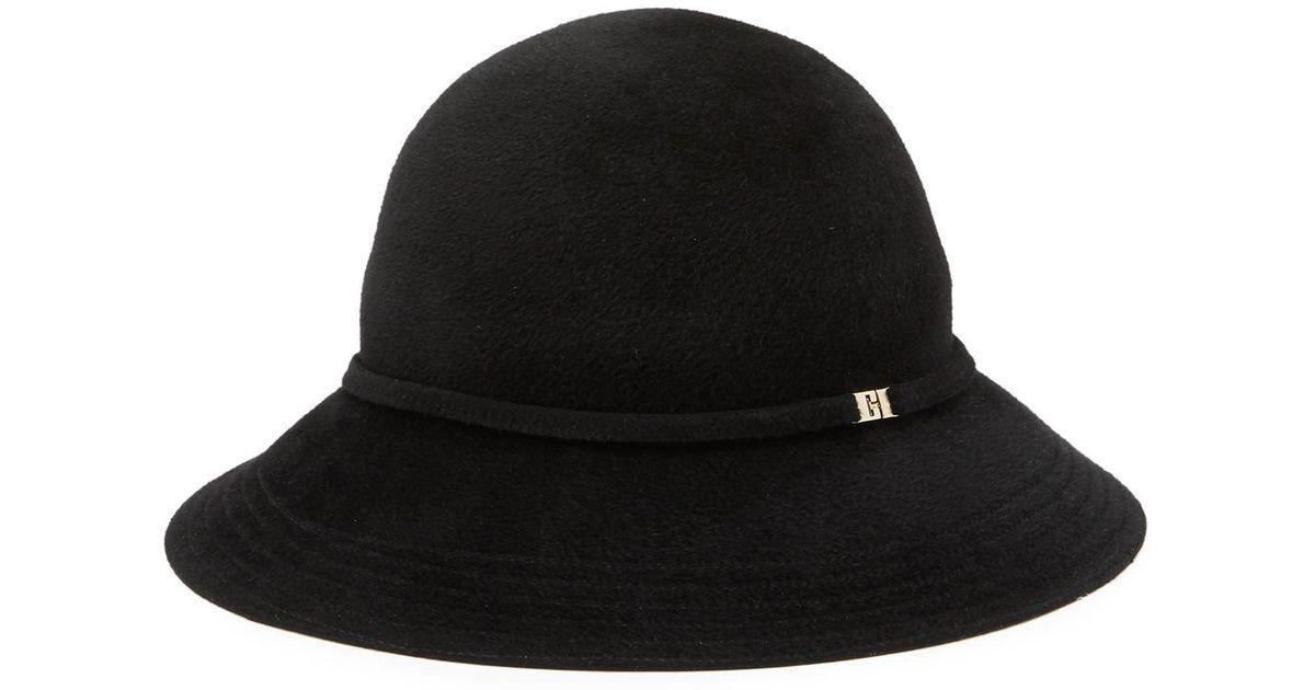 415fb11c2baae Lyst - Helen Kaminski Sadela Rollable   Packable Genuine Rabbit Fur Cloche  Hat in Black