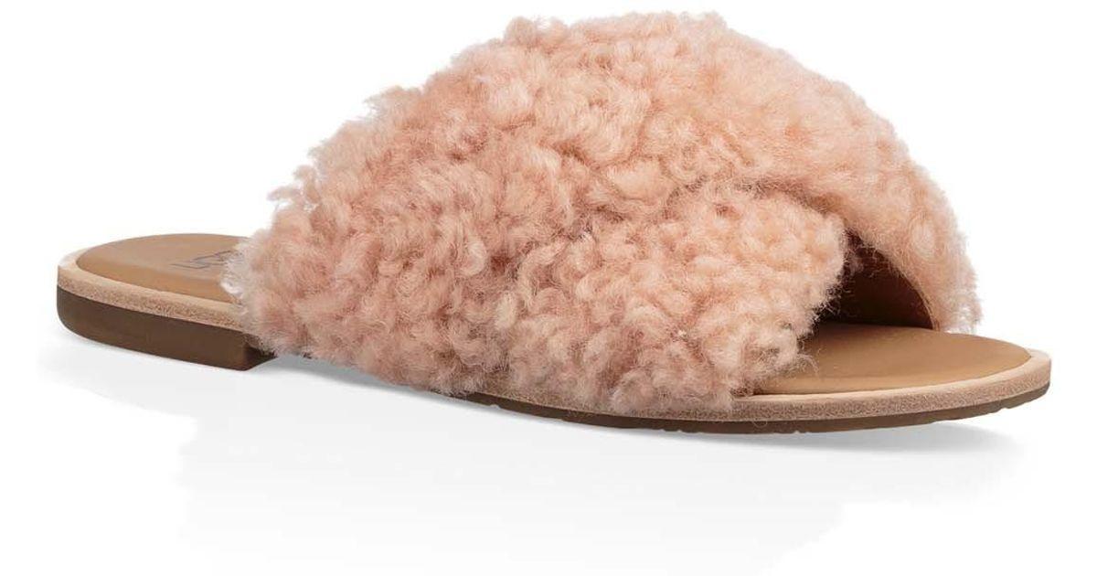 c8d5cd10fc1 Ugg - Multicolor (r) Joni Genuine Shearling Slide Sandal - Lyst