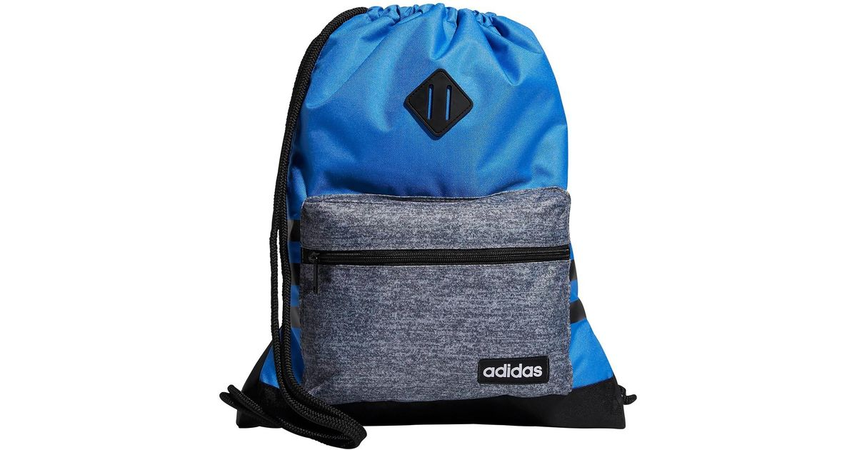 61c6f7975d1c Lyst - adidas Classic 3s Sackpack in Blue for Men