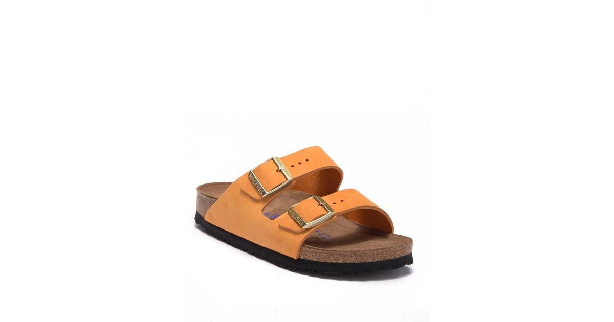 795881c8dbd7cd Lyst - Birkenstock Arizona Slide Sandal - Discontinued in Orange