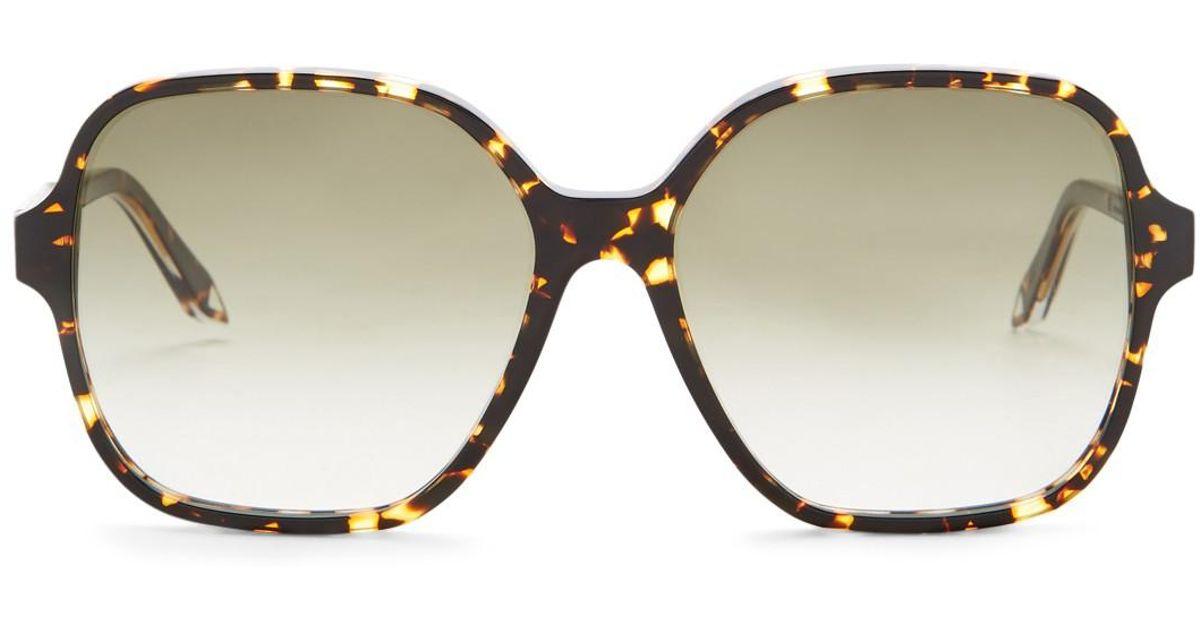 ca72dfc0410 Lyst - Victoria Beckham Women s Iconic Square Sunglasses