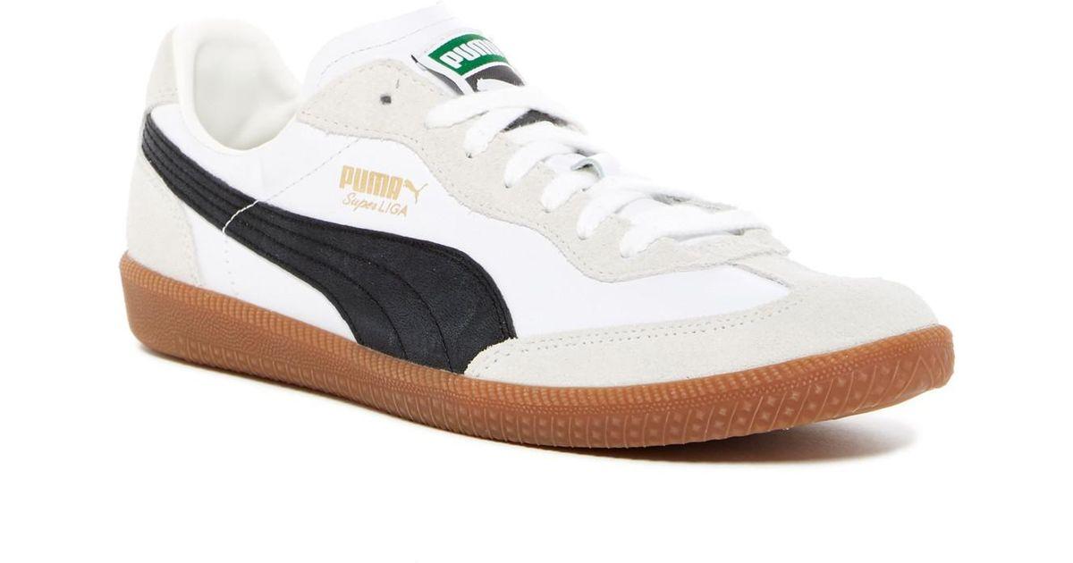Lyst - PUMA Super Liga Og Retro Leather   Suede Sneaker in White for Men 1443d063d