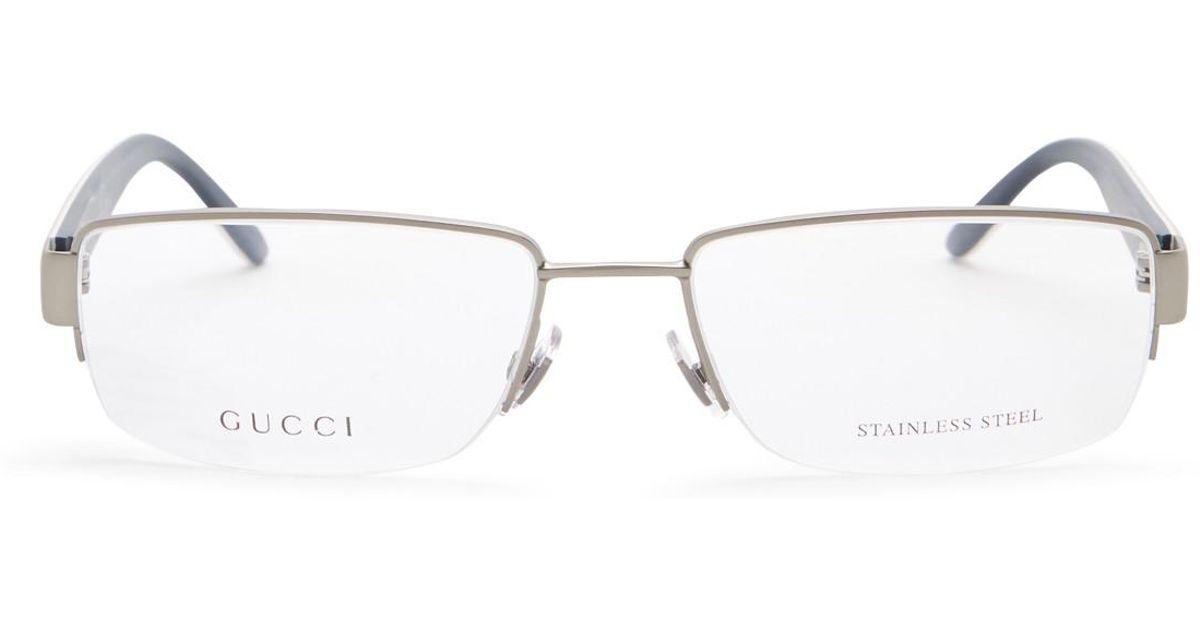 Lyst - Gucci Men\'s Semi-rimless Optical Frames for Men