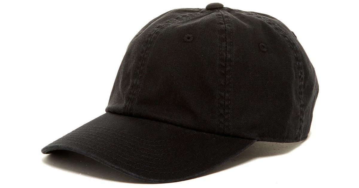 Lyst - American Needle Washed Slouch Baseball Cap in Black for Men dc06577c15d