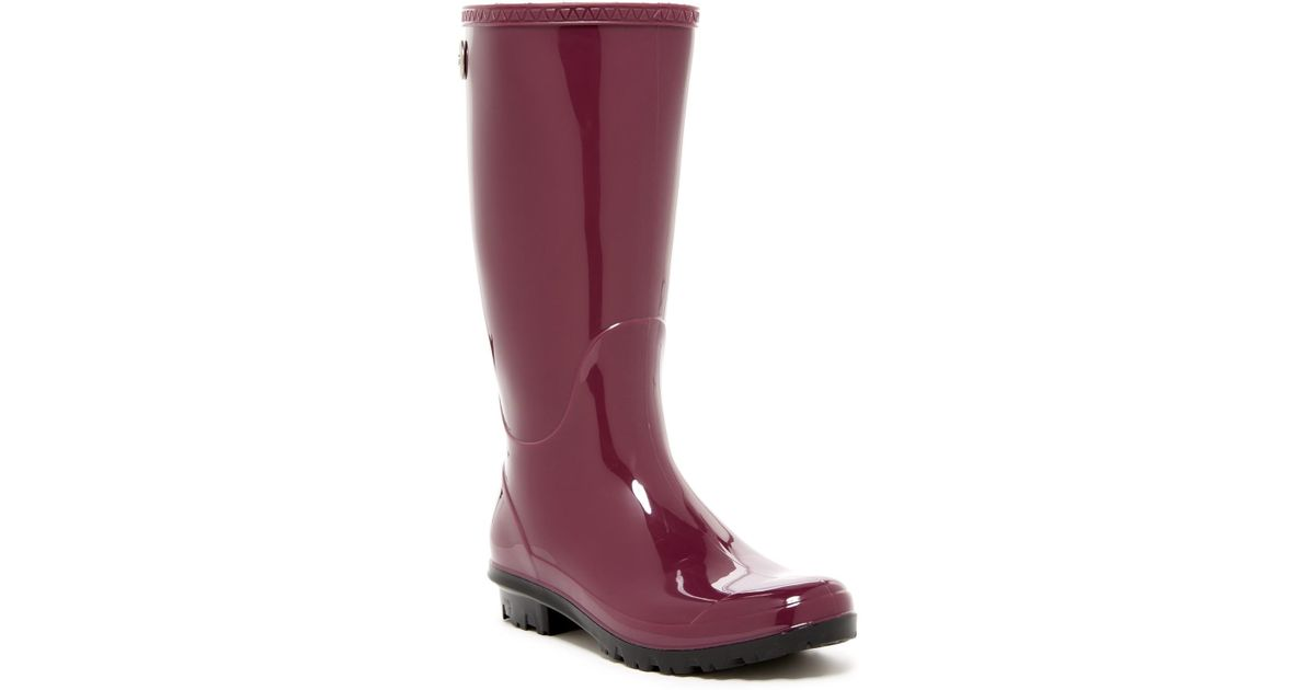 0ad28fdd435 Lyst - UGG Shaye Waterproof Rain Boot in Purple