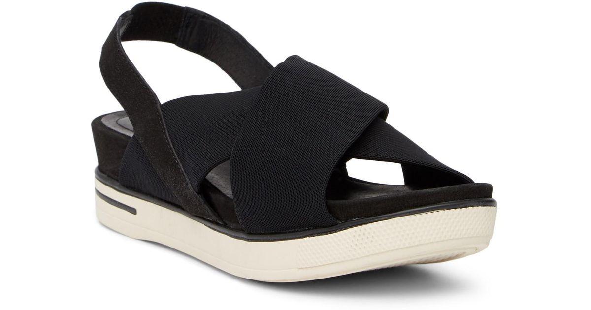 acd443d2ccc Lyst - Eileen Fisher Spa Sport Platform Sandal in Black