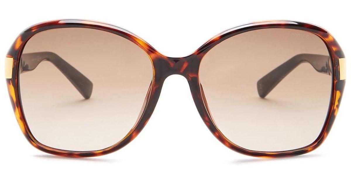 Lyst - Jimmy Choo Women s Alana Rectangular Sunglasses in Brown e1480f38d2
