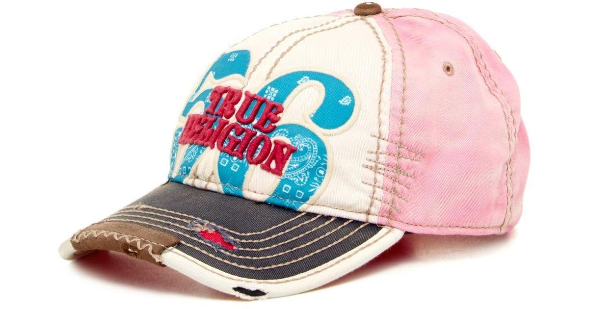 74746fa9 Lyst - True Religion Bandana Baseball Cap in Pink for Men