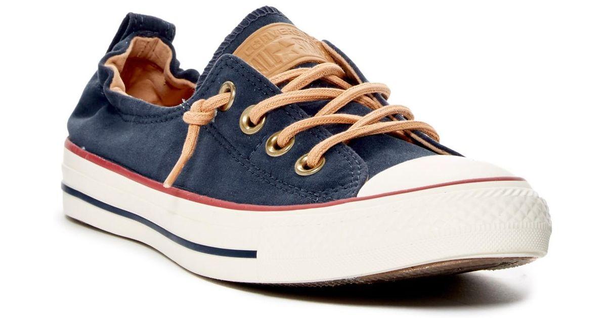 89041e3fe41 Lyst - Converse Chuck Taylor All Star Peached - Shoreline Low Top Slip-on  Sneaker (women) in Blue