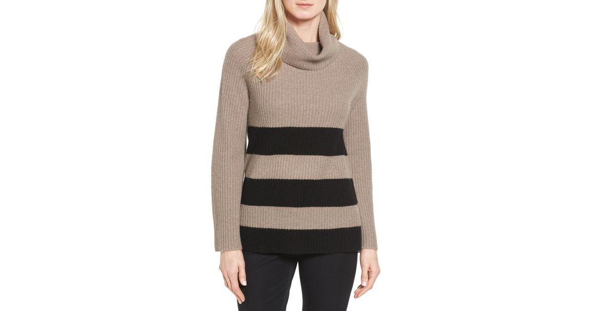 3a42e295a5 Lyst - Halogen Ribbed Cashmere Turtleneck Sweater (regular   Petite)