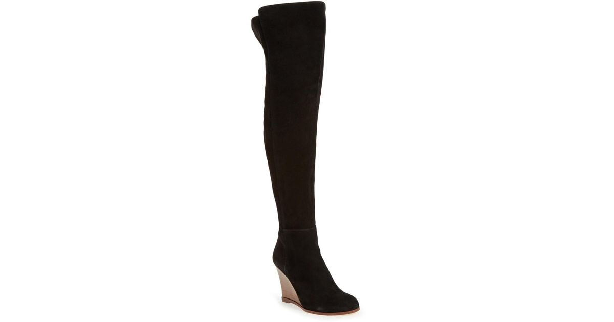 6c715b421dc Lyst - Vince Camuto Granta Over-the-knee Wedge Boot in Black